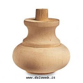 Piede in legno grezzo per mobili 03.0002