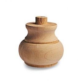 Piede in legno grezzo per mobili 03.0003