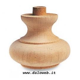 Piede in legno grezzo per mobili 03.0006