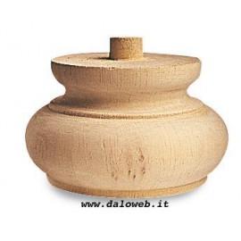 Piede in legno grezzo per mobili 03.0015