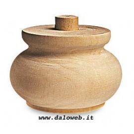 Piede in legno grezzo per mobili 03.0017
