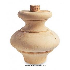 Piede in legno grezzo per mobili 03.0031