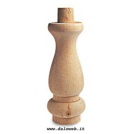 Piede in legno grezzo per mobili 03.0035